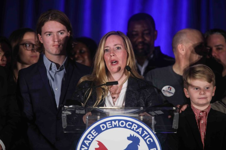 State Treasurer-elect Colleen Davis had her driving license suspended for the fourth time during the campaign against incumbent Ken Simpler. (Saquan Stimpson for WHYY)