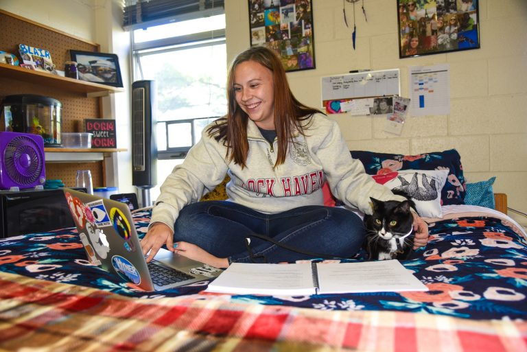 Lock Haven University will launch a pilot pet-friendly program in January when the spring semester begins. (Courtesy of Lock Haven University)