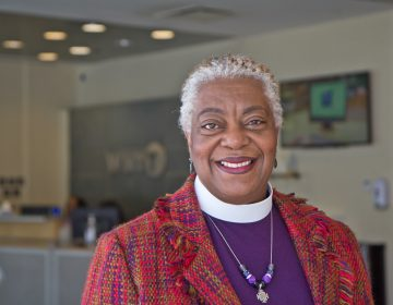Bishop Patricia Ann Curtis Davenport is the first African-American woman to become a bishop of the Southeastern Pennsylvania Evangelical Lutheran Church in America. (Kimberly Paynter/WHYY)