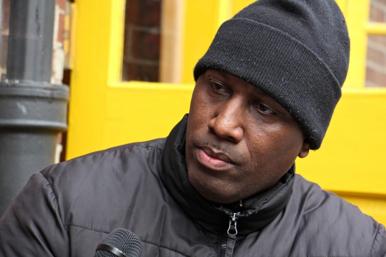 Activist Asa Khalif is launching a run for a City Council At-large seat. (Emma Lee/WHYY)