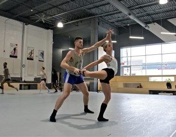 BalletX dancers rehearse in their new space on Washington Avenue in South Philadelphia. (Emma Lee/WHYY)