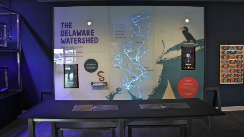 The Delaware Watershed glitters and flashes in an interactive station at the