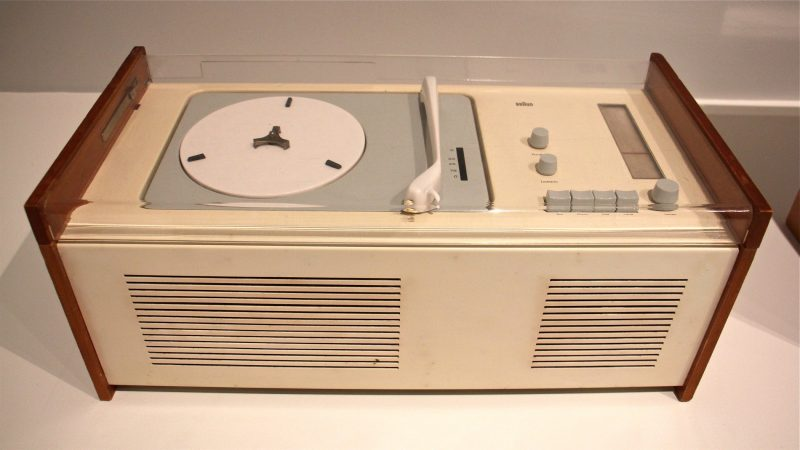 Dieter Rams designed this combination phonograph and radio in 1956, one of the most iconic designs of his early career. (Emma Lee/WHYY)
