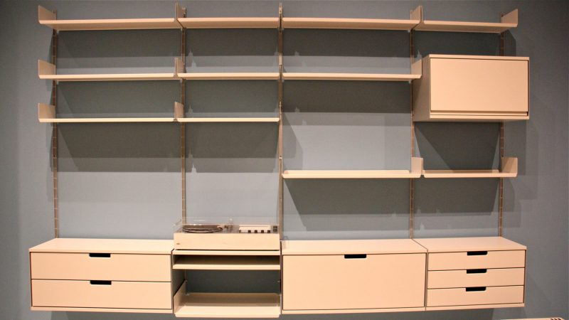 Dieter Rams designed the Universal Shelving System made by Vitsoe, which has been in continuous production since 1960. (Emma Lee/WHYY)
