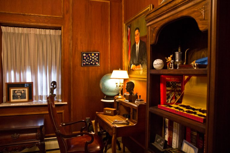 An office at the home of former Philadelphia Mayor Frank Rizzo. (Kimberly Paynter/WHYY)