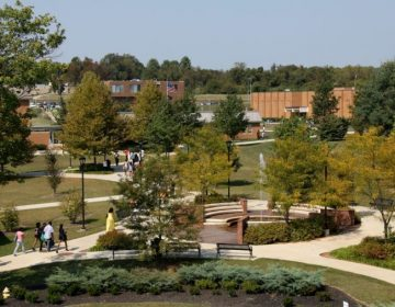 An aerial view of the Cheyney University campus. (Courtesy of Cheyney University)