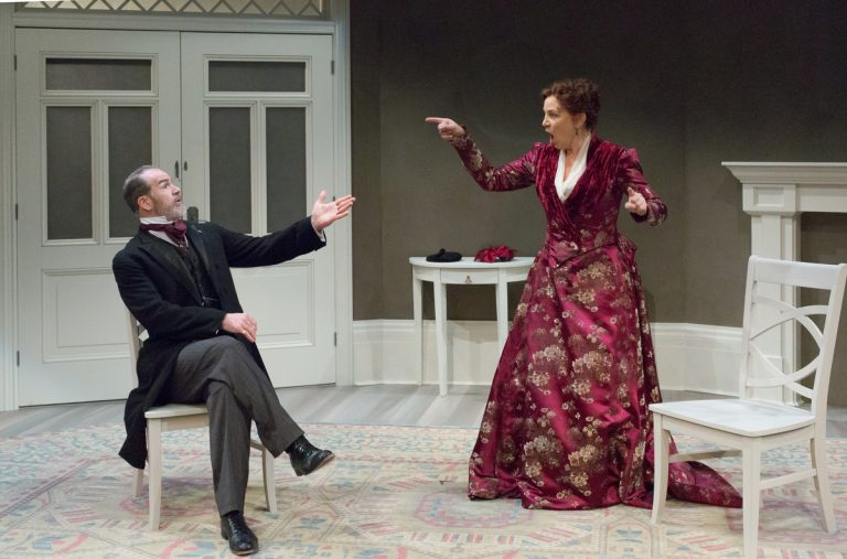 Steven Rishard as Torval and Grace Gonglewski as Nora in Arden Theatre Company's production of