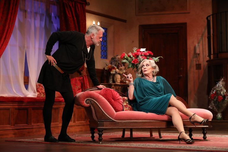 Tom Hewitt and  Elizabeth Ashley in the Bucks County Playhouse production of