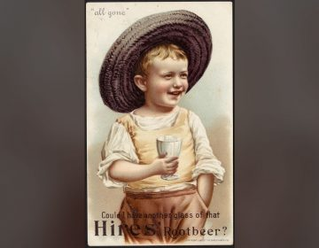 Collectible trade cards were part of the advertising that catapulted Hires root beer to national prominence. (Boston Public Library)