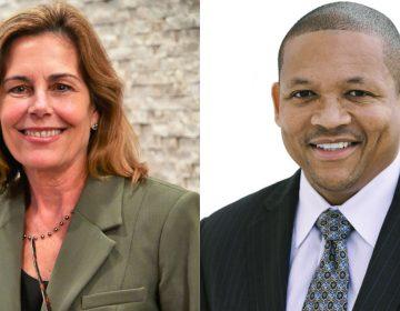 Democrat Kathy Jennings and Republican Bernard Pepukayi are running for Delaware attorney general. (Jennings photo:  courtesy Brad Glazier; Pepukayi photo courtesy TJ Healy/Healy Media Group)