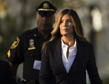 Former Pennsylvania Attorney General Kathleen Kane arrives at Montgomery County courthouse