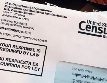 This March 23, 2018 file photo shows an envelope containing a 2018 census letter mailed to a resident in Providence, R.I. (AP Photo/Michelle R. Smith)