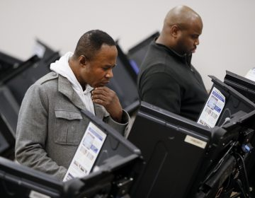 Voters use electronic polling machines as they cast their votes early at the Franklin County Board of Elections, Wednesday, Oct. 31, 2018, in Columbus, Ohio. (John Minchillo/AP Photo)