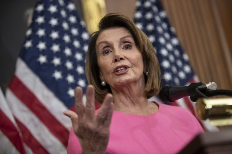 House Minority Leader Nancy Pelosi, D-Calif., speaks in during a news conference on Capitol Hill in Washington, Wednesday, Nov. 7, 2018. Pelosi says she's confident she will win enough support to be elected speaker of the House next year and that she is the best person for the job. (J. Scott Applewhite/AP Photo)