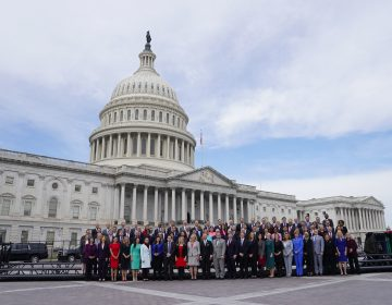 Members of the freshman class of Congress pose for a photo opportunity on Capitol Hill in Washington, Wednesday, Nov. 14, 2018, in Washington. (Pablo Martinez Monsivais/AP Photo)