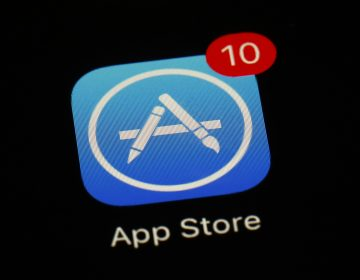 FILE - This March 19, 2018, file photo shows Apple's App Store app in Baltimore. (AP Photo/Patrick Semansky, File)