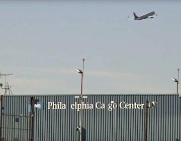 In this image taken from video, US Airways flight 1939, the final US Airways flight, departs Philadelphia International Airport en route to Charlotte, N.C. on Friday, Oct. 16, 2015. (AP Photo)