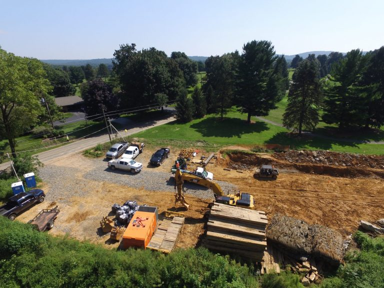 Mariner East 2 pipeline construction along Zinns Mill Road in Lebanon County August 24, 2018. (StateImpact Pennsylvania)