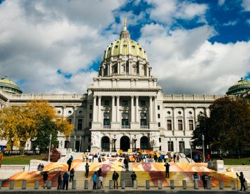 Around two hundred people came to the Pennsylvania Capitol on Saturday, Nov. 3, 2018, to celebrate the work of muralist and activist Michelle Angela Ortiz, a project called