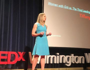 Two-time cancer survivor Tiffany Gwilliam told the TEDx Wilmington audience Friday never to hesitate to tell a medical professional,