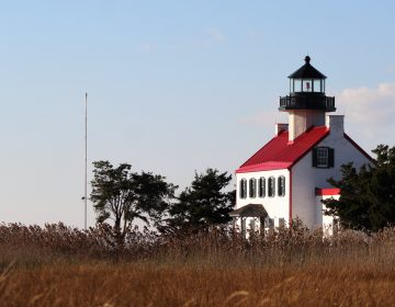 The East Point Lighthouse was built in 1849 where the Maurice River meets the Delaware Bay. (Bill Barlow/for WHYY)