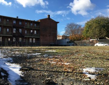 This barren lot in Wilmington will become a green space for area residents to play and grow vegetables. (Mark Eichmann/WHYY)