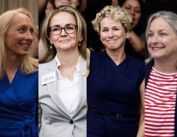 (From left) Mary Gay Scanlon, Madeleine Dean, Chrissy Houlahan, and Susan Wild, all Pennsylvania women who won their congressional bids during the 2018-midterm elections (Emily Cohen for WHYY; Matt Rourke/AP Photo; Matt Rourke/AP Photo; Jacqueline Larma/AP Photo)