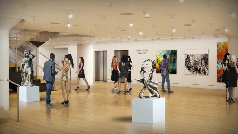 An architect's rendering of the proposed Anne Bryan Gallery at the Pennsylvania Academy of Fine Arts. (Courtesy of PAFA)