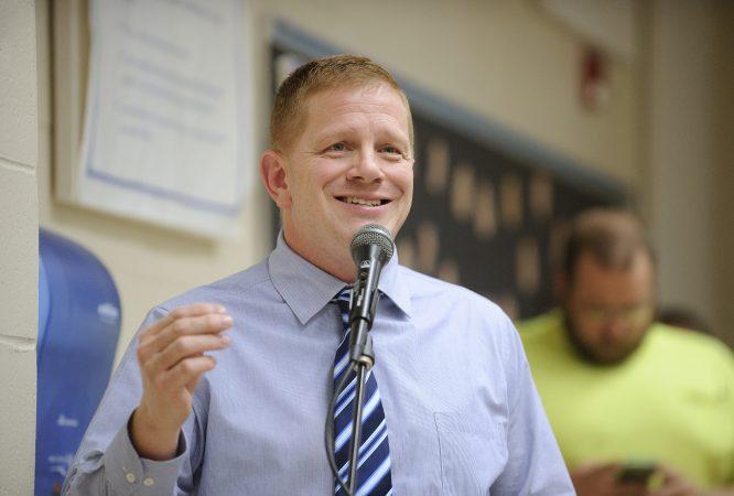 Frank Wenzel, head of the Tamaqua teachers union, opposes the policy. (Matt Smith for Keystone Crossroads)