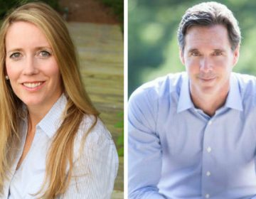 Colleen Davis (D) is challenging incumbent Treasurer Ken Simpler (R). (Courtesy Davis, Simpler campaigns)