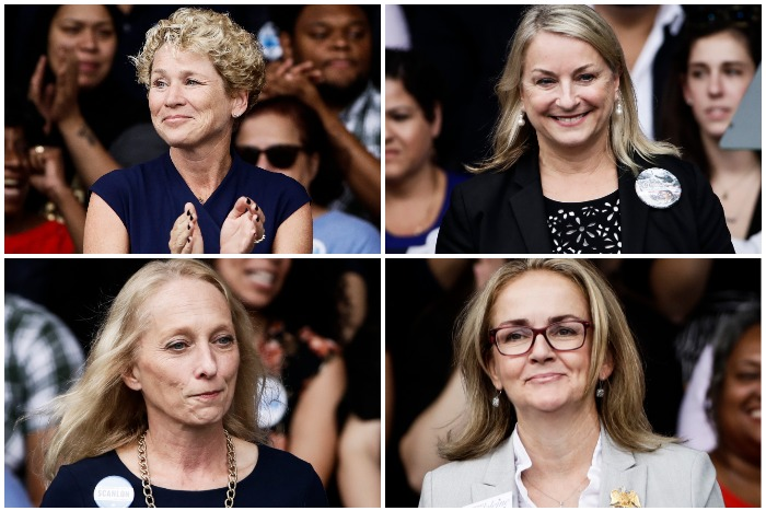 from top left to bottom right: Chrissy Houlahan, Susan Wild, Mary Gay Scanlon, Madeleine Dean