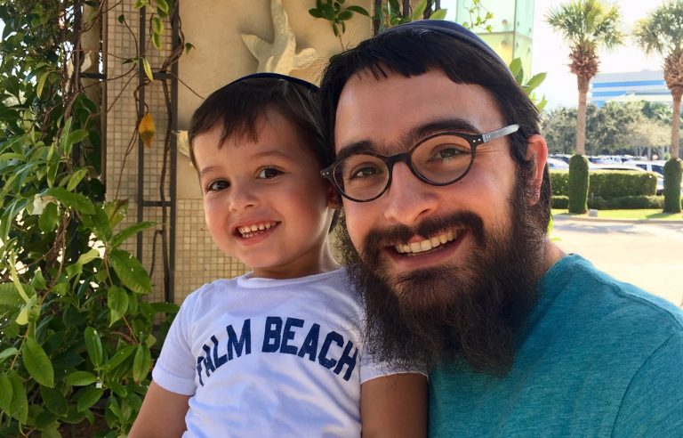 Yossi Dworcan with his son, Eli. (Image courtesy of Sarah Dworcan)