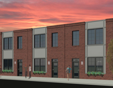 A rendering of single-family homes planned for 1100-1114 Wallace Street in West Poplar. (Courtesy of Frankel Enterprise)
