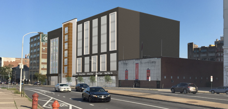 A rendering of a storage facility planned for 1314 Spring Garden Street.  (JKRP Architects/ Johnson Development Associates Inc.)