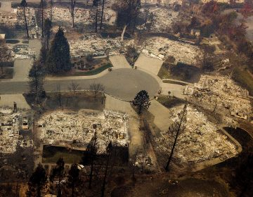 Residences leveled by the Camp Fire line a cul-de-sac in Paradise, Calif., earlier this month. A massive federal report says climate change is contributing to larger wildfires as well as other deadly extreme weather. (Noah Berger/AP)