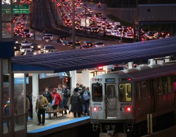 In Chicago, the Kennedy Expressway is clogged with cars as rush-hour commuters and Thanksgiving holiday travelers mix on Wednesday -- one of the busiest travel days of the year.