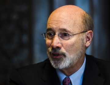 In this Tuesday, Jan. 2, 2018 photo, Pennsylvania Gov. Tom Wolf speaks during an interview with The Associated Press at his office in Harrisburg, Pa. (Matt Rourke/AP Photo)