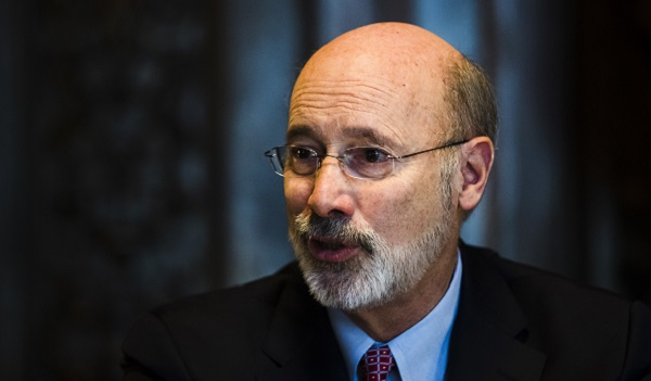 Pennsylvania Gov. Tom Wolf speaks during an interview with The Associated Press at his office in Harrisburg, Pa. (Matt Rourke/AP Photo)