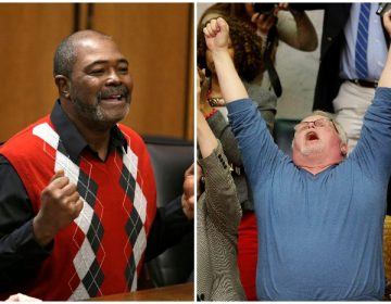 left to right: Kwame Ajamu, Kirk Bloodsworth (AP)