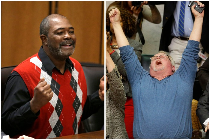left to right: Kwame Ajamu, Kirk Bloodsworth (AP)