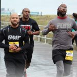 Kareem Lee, left, Jason Reeves and Dave Johnson, right, from Black Men Run were running the  Atlantic City Marathon Race 10k on 10/20/18.  (Photo courtesy of Dave Johnson)
