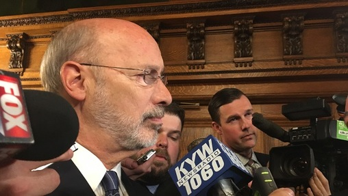 Governor Tom Wolf has said questions about Senator-elect Lindsey Williams' residency aren't productive. (Katie Meyer/WITF)