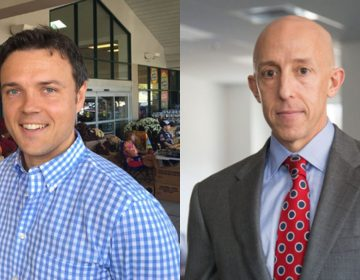 Kevin Madden (left) and Brian Zidek, both Democrats, won seats on the five-member Delaware County Council board in 2017. (WHYY file photos)