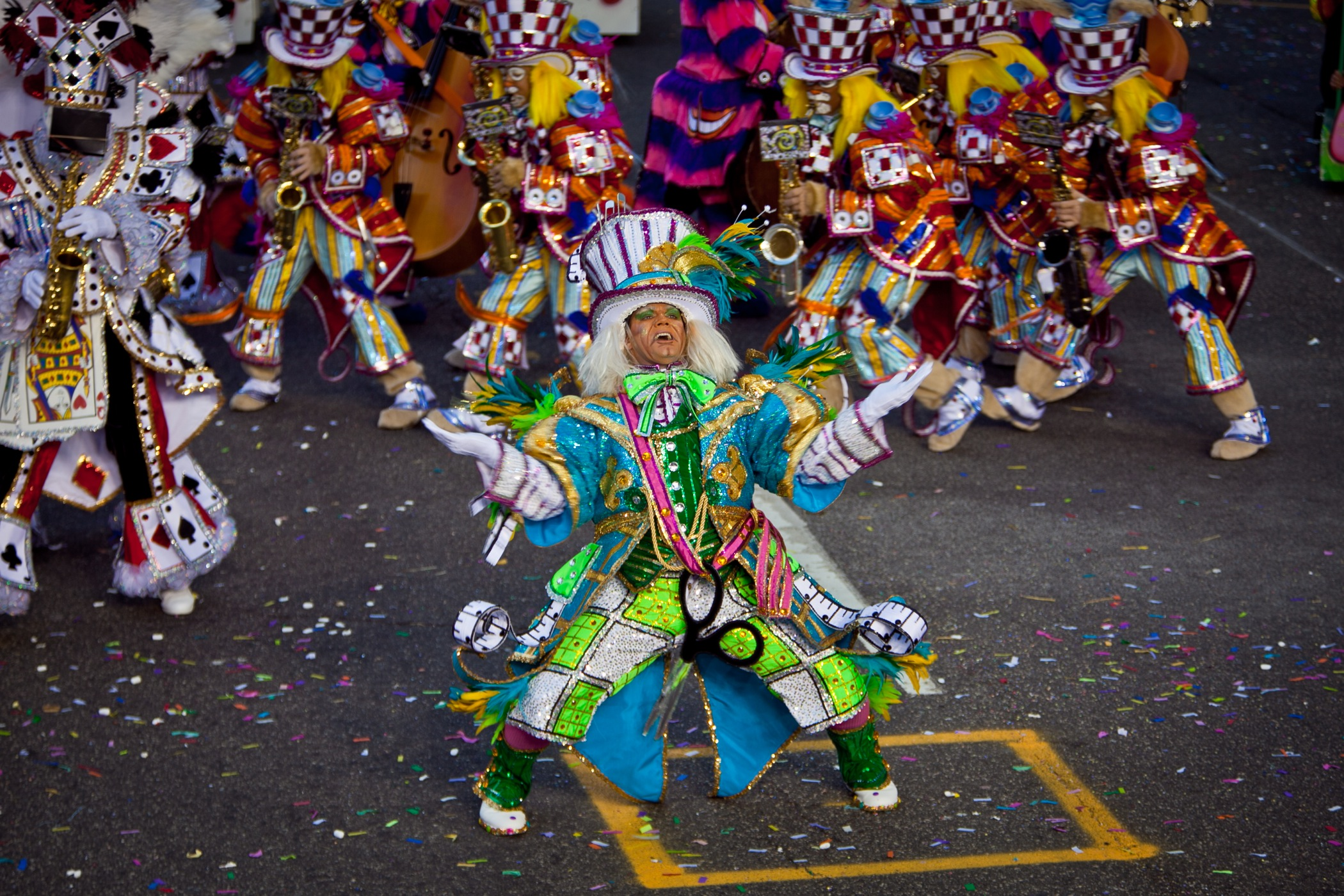 The Avalon String Band performs in the 2012 Mummers Parade.