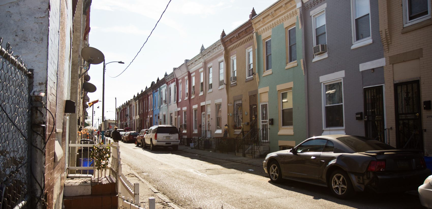 On this block of Waterloo Street in Kensington, the DA attempted to seize nearly one quarter of the properties between 2011 and 2015. (Kimberly Paynter/WHYY)