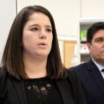 Pennsylvania Insurance Commissioner Jessica Altman talks about steps taken to ensure access to opioid addiction treatment during a visit to a Walgreens pharmacy in Kensington.