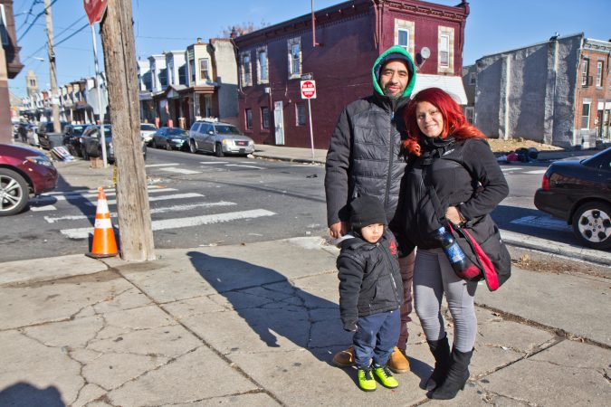 The Vasquez family says they've noticed a cleaner Kensington since November. (Kimberly Paynter/WHYY)