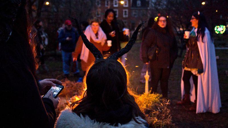 Spirits gather at Liberty Lands Park. (Kimberly Paynter/WHYY)