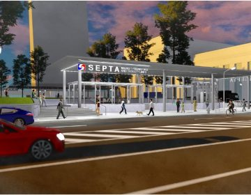 A rendering of the 30th Street Subway Trolley Station (SEPTA)