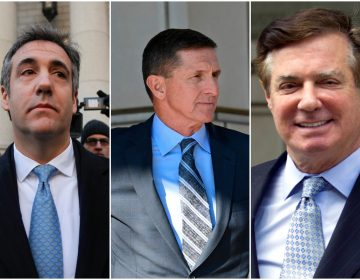 From left to right: Michael Cohen, Michael Flynn, Paul Manafort (AP)